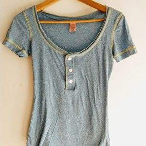 Free People Retro Inspired Cotton Henley